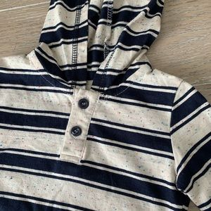 Boys long sleeve Sovereign Code striped shirt